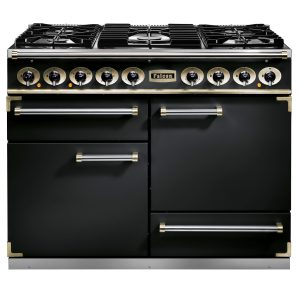 Falcon F1092DXDFBL 1092 Deluxe Dual Fuel Range Cooker In Black