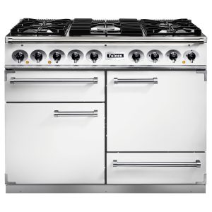 Falcon F1092DXDFWH/CM 1092 Deluxe Dual Fuel Range Cooker In Ice White