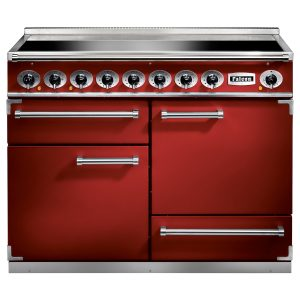 Falcon F1092DXEIRD 1092 Deluxe Induction Range Cooker In Cherry Red