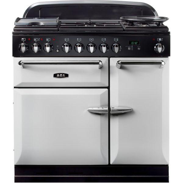 AGA MENMSF_PAS Masterchef XL Dual Fuel Pearl Ashes Range Cooker 90cm