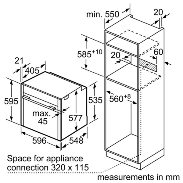 Neff B47VR32N0B Slide & Hide Single Oven