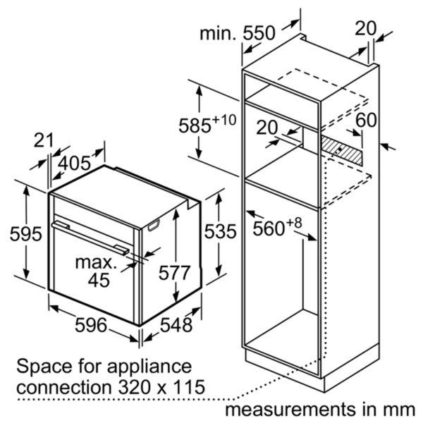 Neff B47VS34N0B Slide & Hide Single Oven