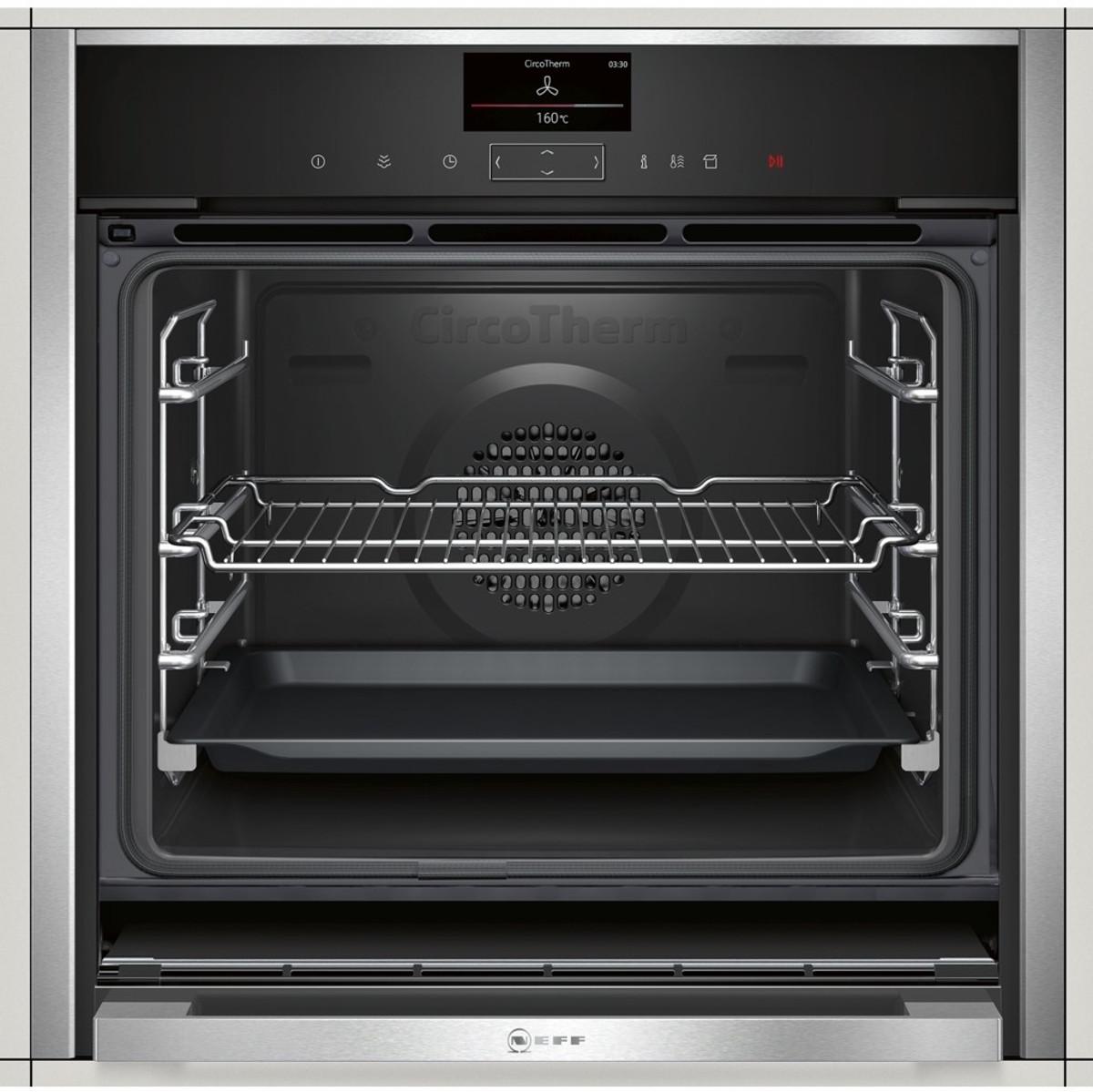 neff b57vs24n0b slide hide pyrolytic single oven discount appliance centre. Black Bedroom Furniture Sets. Home Design Ideas