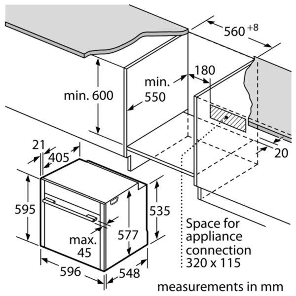 Neff B58VT68N0B Slide & Hide Pyrolytic Single Oven