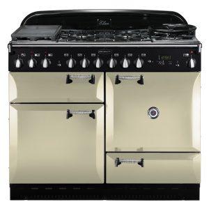Rangemaster ELAS110DFFCR Elan 110 Dual Fuel Range Cooker - Cream & Chrome