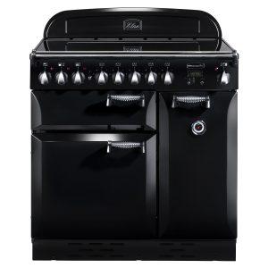 Rangemaster ELAS90ECBL/C Elan 90 Ceramic Range Cooker - Black & Chrome