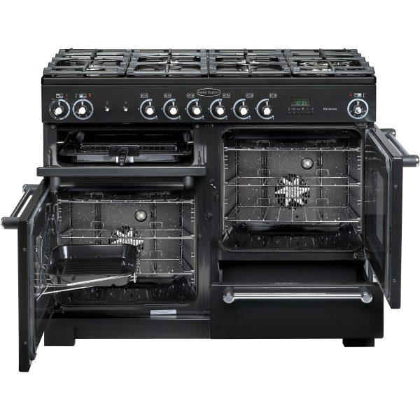 Kitchener 110cm Dual Fuel Open View Black