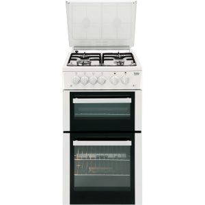 Beko BCDG504W Twin Cavity Gas Cooker