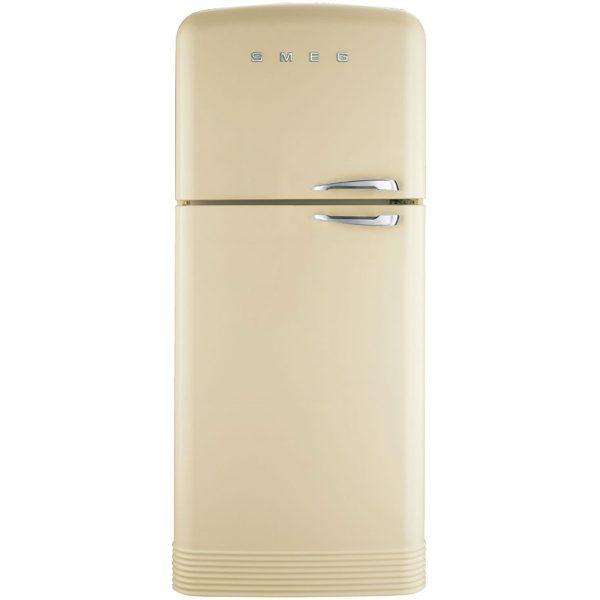 Smeg FAB50LCR Retro Style Fridge Freezer In Cream LH Hinge