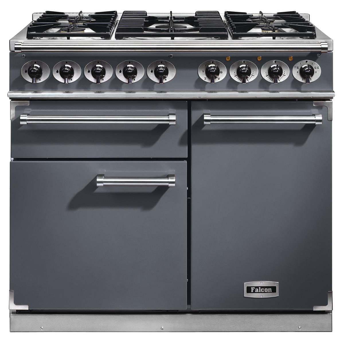 falcon f1000dxdfsl c 1000 deluxe dual fuel range cooker in. Black Bedroom Furniture Sets. Home Design Ideas