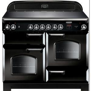 Rangemaster CLA110ECBL/C Classic 110 Ceramic Range Cooker Black & Chrome