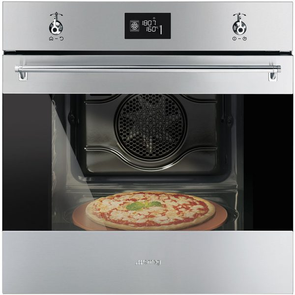 "Smeg SF6390XPZE 60cm ""Classic"" Multifunction Pizza Oven"