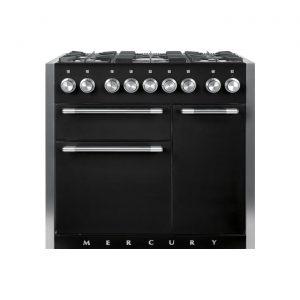 Mercury MCY1000DFLQ 100cm Dual Fuel Range Cooker in Liquorice