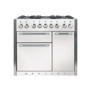 Mercury MCY1000DFSD 100cm Dual Fuel Range Cooker in Snowdrop