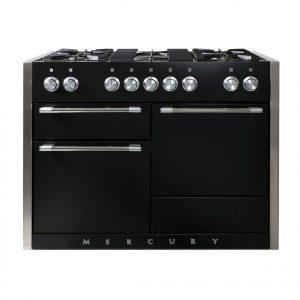 Mercury MCY1200DFAB 120cm Dual Fuel Range Cooker in Ash Black