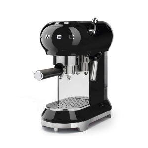 Smeg ECF01BLUK 50s Retro Style Aesthetic Espresso Coffee Machine Black