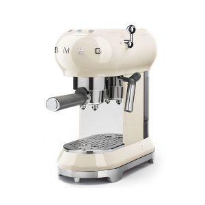 Smeg ECF01CRUK 50s Retro Style Aesthetic Espresso Coffee Machine Cream