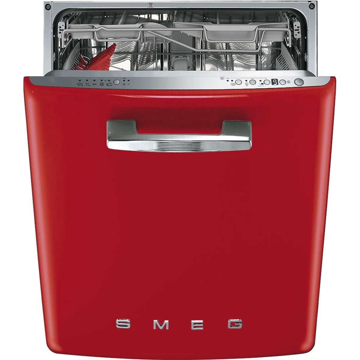 Smeg DI6FABRD Integrated 50's Retro Dishwasher in Red