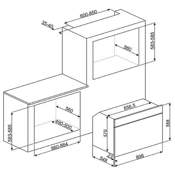 "Smeg SFP9395X 90cm ""Classic"" Pyrolytic Multifunction Oven"