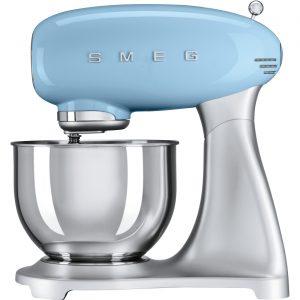 Smeg SMF01PBUK 50's Retro Style Stand Mixer in Pastel Blue