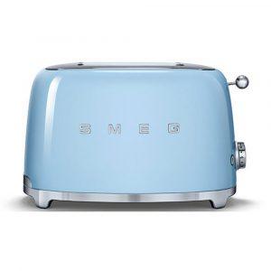Smeg TSF01PBUK 50's Retro Style 2 Slice Toaster in Pastel Blue