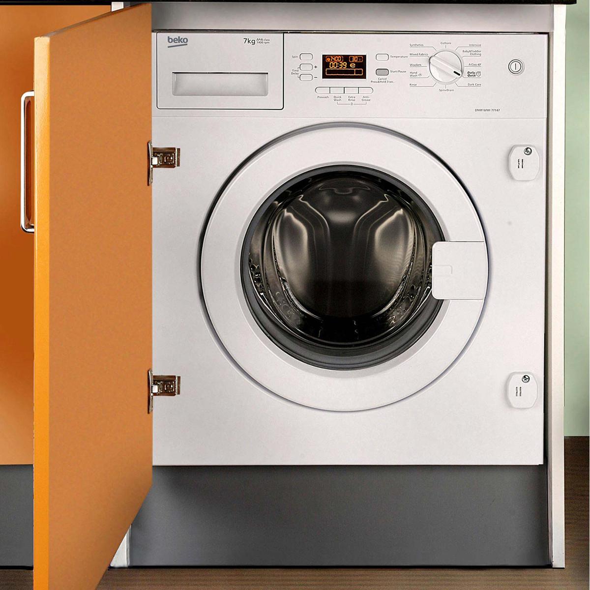 buy beko wmi71441 integrated 7kg washing machine. Black Bedroom Furniture Sets. Home Design Ideas