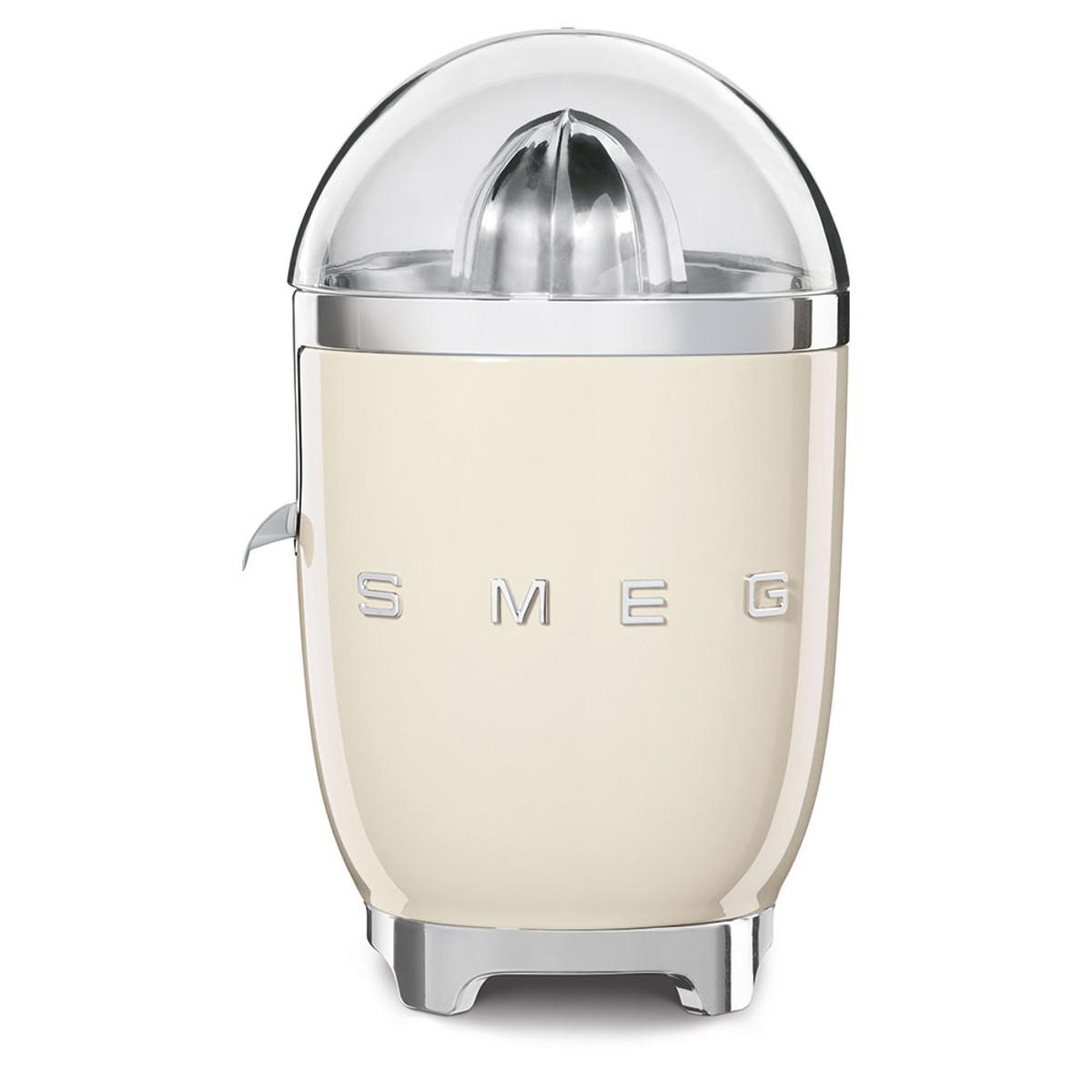 Smeg CJF01CRUK New 50's Retro Style Aesthetic Citrus Juicer, Cream