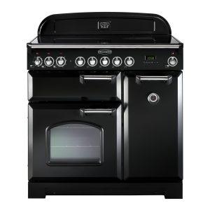 Rangemaster CDL90EIBL/C Classic Deluxe 90 Induction Range Cooker – Black & Chrome