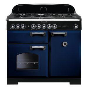 Rangemaster CDL100DFFRB/C Classic Deluxe 100 Dual Fuel Range Cooker – Regal Blue & Chrome