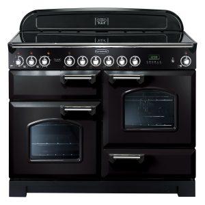 Rangemaster CDL110ECBL/C Classic Deluxe 110 Ceramic Range Cooker Black & Chrome