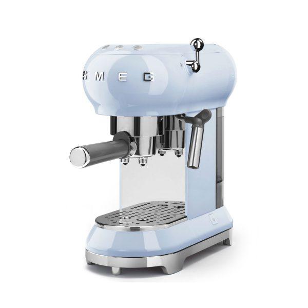 Smeg ECF01PBUK 50's Retro Style Aesthetic Espresso Coffee Machine Pastel Blue