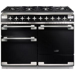 Rangemaster ELS110DFFGB/ Elise 110 Dual Fuel Range Cooker In Gloss Black