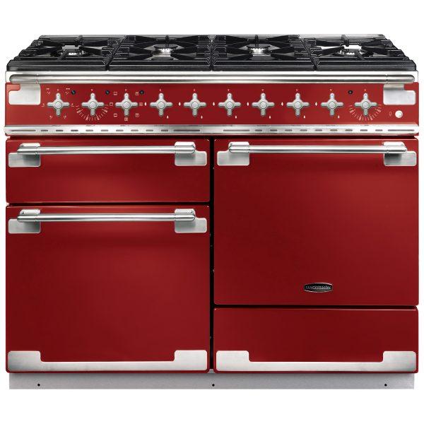 Rangemaster ELS110DFFRD/ Elise 110 Dual Fuel Range Cooker In Cherry Red
