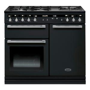 Rangemaster HLT100DFFBL/C Hi-Lite 100cm Dual Fuel Range Cooker Black