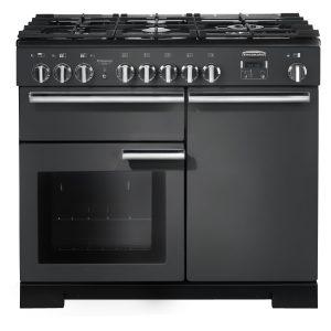 Rangemaster PDL100DFFSL/ Professional Deluxe 100cm Dual Fuel Range Cooker – Slate