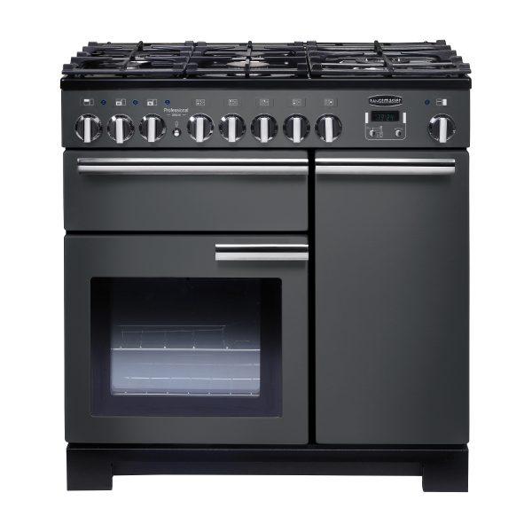 Rangemaster PDL90DFFSL/C Professional Deluxe 90 Dual Fuel Range Cooker – Slate