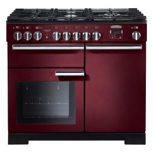 Rangemaster PROP100DFFCY Professional Plus 100 Dual Fuel Range Cooker In Cranberry
