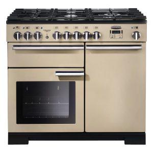 Rangemaster PROP100DFFCR Professional Plus 100 Dual Fuel Range Cooker In Cream