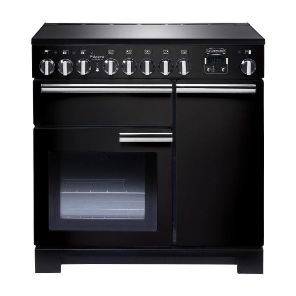 Rangemaster PDL90EIGB/C Professional Deluxe 90 Induction Range Cooker – Gloss Black