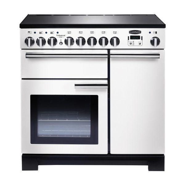Rangemaster PDL90EIWH/C Professional Deluxe 90 Induction Range Cooker – White