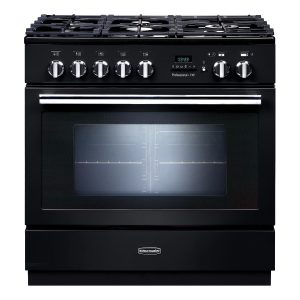 Rangemaster PROP90FXPDFFGB Professional Plus FXP Dual Fuel Range Cooker Gloss Black