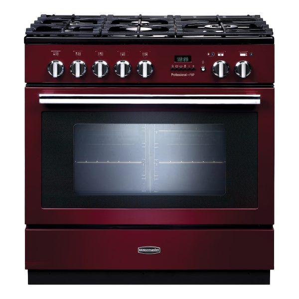 Rangemaster PROP90FXPDFFCY Professional Plus FXP Dual Fuel Range Cooker Cranberry