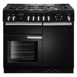 Rangemaster PROP100NGFGB/C Professional Plus 100 Gas Range Cooker In Gloss Black