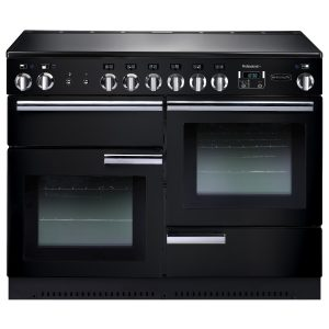 Rangemaster PROP110ECGB Professional Plus 110 Ceramic Range Cooker In Gloss Black