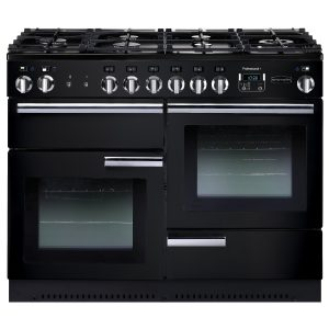 Rangemaster PROP110NGFGB Professional Plus 110 All Gas Range Cooker In Gloss Black