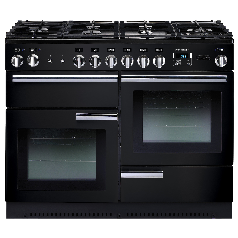 Rangemaster PROP110DFFGB Professional Plus 110 Dual Fuel Range Cooker In Gloss Black