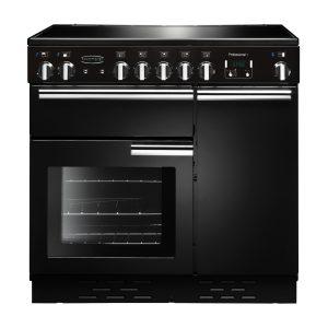 Rangemaster PROP90ECGB/C Professional Plus 90 Ceramic Range Cooker In Gloss Black