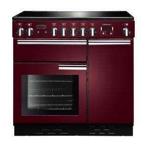 Rangemaster PROP90ECCY/C Professional Plus 90 Ceramic Range Cooker In Cranberry