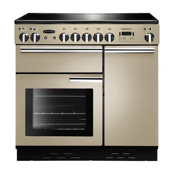 Rangemaster PROP90ECCR/C Professional Plus 90 Ceramic Range Cooker In Cream