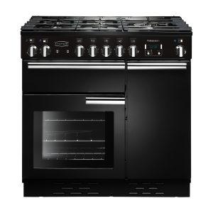 Rangemaster PROP90NGFGB/C Professional Plus 90 All Gas Range Cooker In Gloss Black